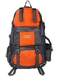 Free knight - 50L Mochila de Senderismo al Aire Libre Impermeable Multifunción (Viajes, Excursiones, Acampadas, Nylon) (Naranja)