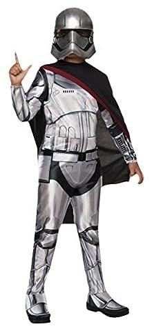 erdbeerloft - Jungen Karneval Komplett Kostüm Star Wars Captain Phasma, Silber, Größe 140-152, 10-12 Jahre