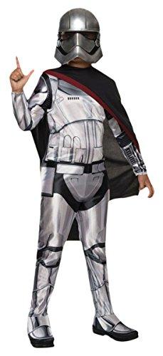 erdbeerloft - Jungen Karneval Komplett Kostüm Star Wars Captain Phasma, Silber, Größe 140-152, 10-12 Jahre (Phasma Star Wars Kostüm)