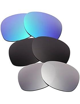 Hkuco Plus Mens Replacement Lenses For Ray-Ban Wayfarer RB2132 55mm Blue/Black/Titanium Sunglasses