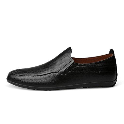 Ocasional Dextérieur Para Encaje Zapatos De Marea Hombre De Trabajo Fadacai Negro Cuero n6wwq1zxf8