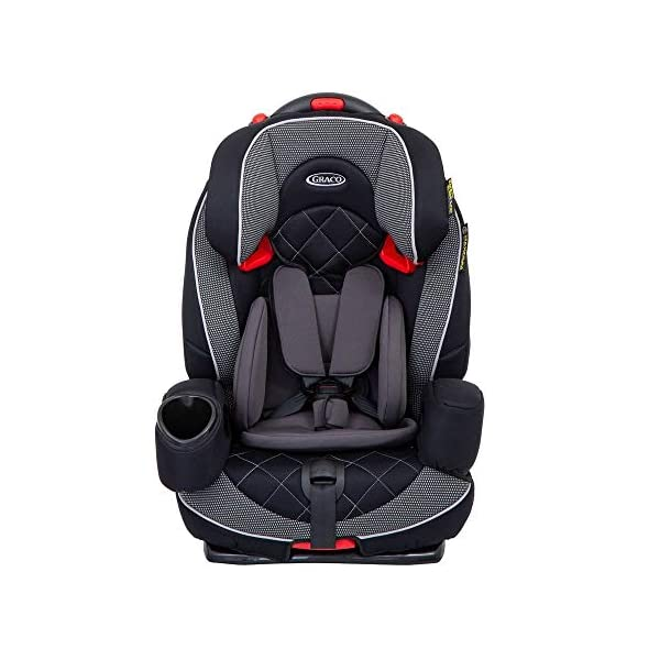 Graco Nautilus Elite Harnessed Booster Car Seat Group 1/2/3, Lunar Graco 2-in-1 convertible car seat for children 9 to 36kg (approx. 9 months to 12 years) From toddler to big kid, nautilus elite grows with your child; the no-rethread harness allows you to easily adjust the harness and headrest together Convenient one-hand height and width adjustable headrest 2