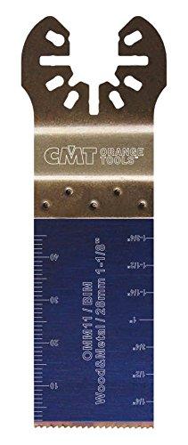 CMT : Lame bi-métal 28 mm plongeante et de coupe à ras / bois - métaux multi-marques OMM11