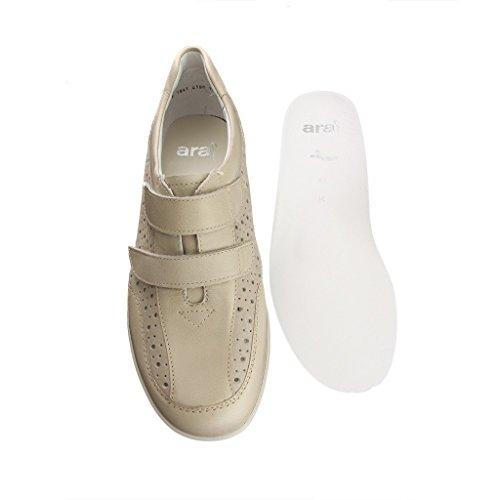 ara 12–37529Como–Femme Chaussons–Largeur Beige Chaussures en K Beige