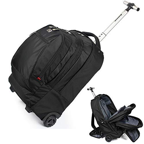 Wheeled Carry-on Gepäck (XSWE Multifunktionale Trolley Travel Bag, wasserdichter Rolling-Rucksack Carry-on Gepäck Wheeled Rucksack für Laptop bis 17 Zoll)