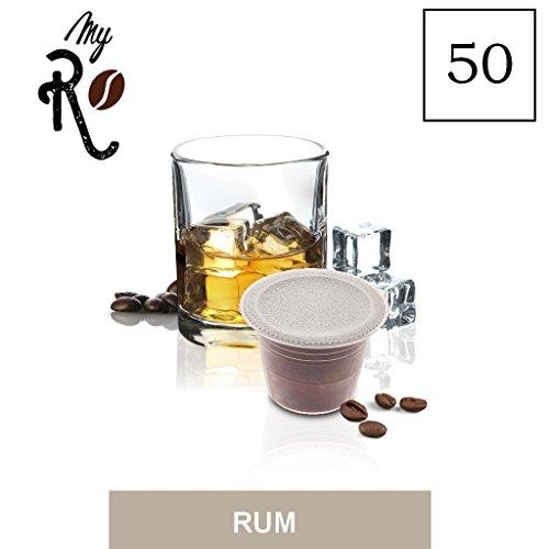 FRHOME - Nespresso 50 capsule compatibili - Caffè aromatizzato al Rum - MyRistretto