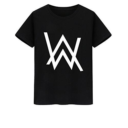 Tiny Time Unisex Kurze Hülse Bunt Freizeit-T-Shirt Black