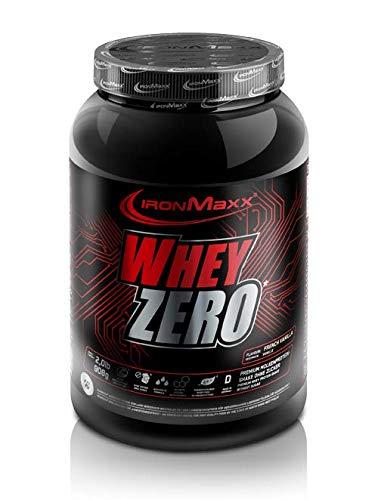 IronMaxx Whey Zero Protein, Vanille - Molkenprotein mit 97 {3826aca04e5ef126d6f37b0cd380dbad3729f6cd9c69c3fb831f4627d88c90a5} Whey Anteil - Zuckerfreies Protein Isolat für den Muskelaufbau - 1 x 908 g Pulver