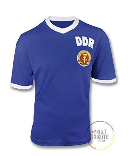 Kulttrikots DDR Fussball Fanartikel Ostalgie Blau-Weiss L