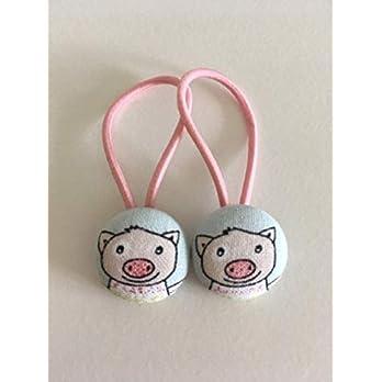 Haargummi Kinder 2er Set Schweinchen Sugg