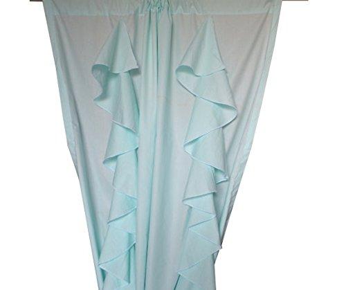 Amore Beaute hecho a mano algodón cortinas en verde menta color personalizable...