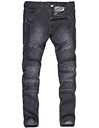 0dd9af45c6aae Oudan New Einfaribe Men Jeans Pantalon Coupe Droite Coupe Slim Fit Jeans  Pantalon Coupe Regular Fit