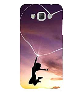 For Samsung Galaxy Grand 3 :: Samsung Galaxy Grand Max G720F girl fly in love, love heart, girl, purple background Designer Printed High Quality Smooth Matte Protective Mobile Case Back Pouch Cover by APEX