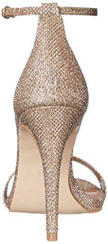 Steve Madden  STECY, Sandales Plateforme femme Gold Fabric