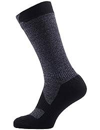 SealSkinz hombres calcetines de senderismo de grosor de longitud media, hombre, Walking Thin Mid Length, Dark Grey/black, XL