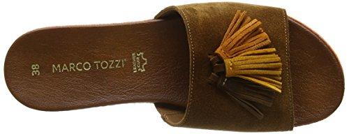 Premio Marco Tozzi 27144, Sandalias Con Cuña De Mujer Marrón (peine Muscat 354)