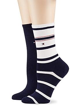 Tommy Hilfiger Damen Th Women Accent Stripe Sock 2p, 2er Pack