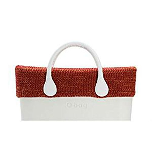 O bag bordo in lana mouline' arancio
