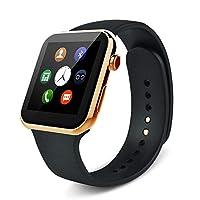 ساعة الذكية A9 ترتبط مع اجهزة  السامسونج وتحسب نبضات القلب، ذهبي - A9-W-G