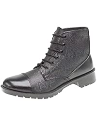 Grafters Leather Cadet Boots 6 Eye CCF Army Parade Sea Cadets Hi Shine Leather Easy Clean Plus Cleaning Wipes