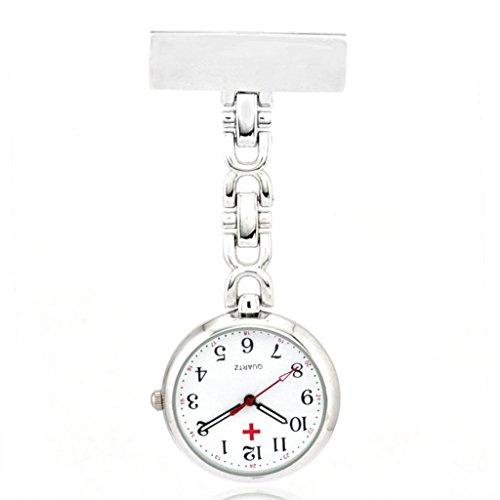 Quarz Schwesternuhr Taschenuhr Pulsuhr Brosche Uhr Krankenschwester Uhren Weissen Zifferblatt