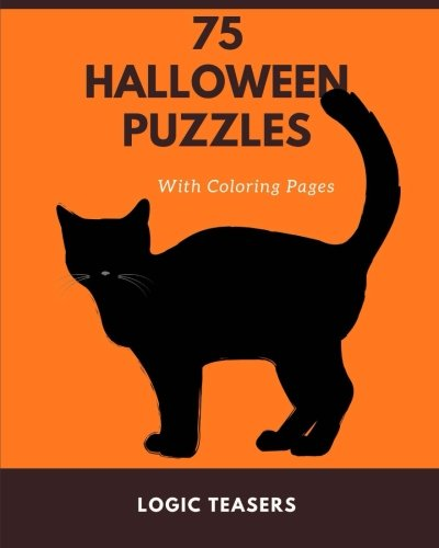 75 Halloween Puzzles: With Coloring Pages (Halloween Hangman Spielen)