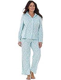 e46d41c5b8 by Karen Neuburger Ladies Stunning Printed Fleece Pyjama Set Womens PJ s  Winter Warm Nightwea