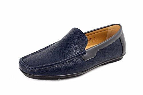 Bateau De Mens Bateau À Enfiler Chaussures Décontractées Bleu Marine