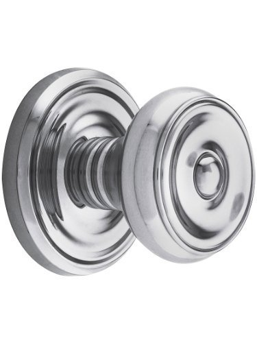 Classic Rosette Set With Waverly Knobs Double Dummy In Polished Chrome. Old Door Knobs. by Emtek