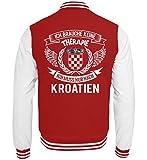 Kroatien Shirt/Ich Brauche Keine Therapie ich muss nur nach Kroatien/Hrvatska - College Sweatjacke