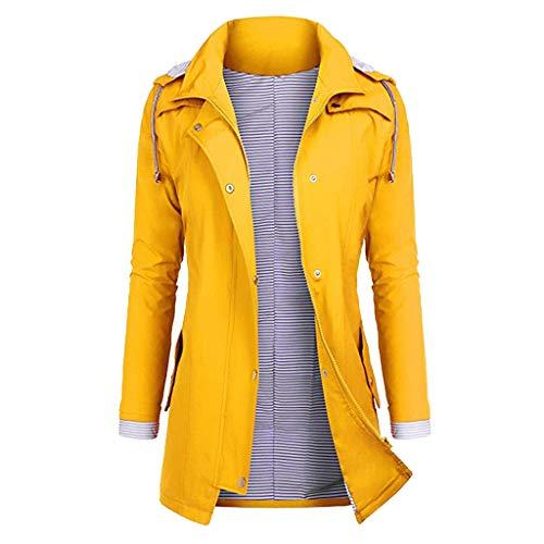 TIMEMEAN Ladies Waterproof Coat Rain Jacket Women Raincoat Winter Lightweight Comfortable Hooded Outwear