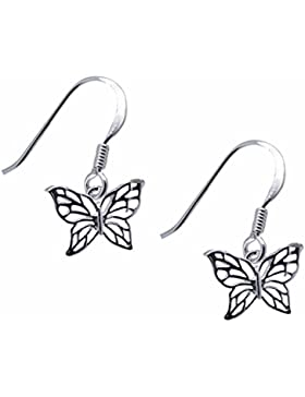 SL-Collection Ohrringe Silhouette Schmetterling 925 Silber
