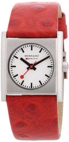mondaine-ladies-evo-cube-stainless-steel-case-red-leather-strap