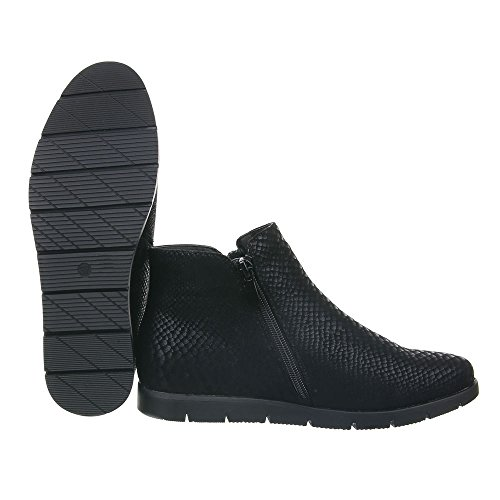 Damen Schuhe Moderne Chelsea Boots Reißverschluss Chelsea Boots Stiefeletten Schwarz