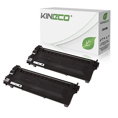 Kineco 2 Toner kompatibel für Brother TN-2320 TN-2310 für Brother HL-L2340DW, HL-L2360DN, MFC-L2700DW, DCPL2520DWG1, DCP-L2500D, HL-L2360DN - TN2320 TN2310 - Schwarz XXL Füllmenge je 5.200 Seiten - Brother Bedienungsanleitung