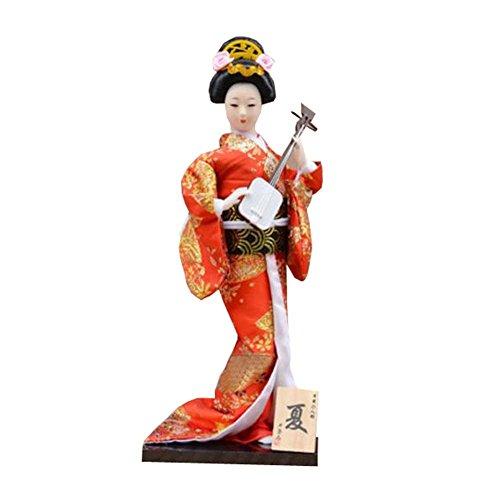 """Zufälliger Stil - 12 \""""japanische Geisha Puppe mit traditionellen Vintage Kimono - A6"""