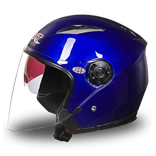 Preisvergleich Produktbild Motorrad Männer und Frauen Helm Doppelscheibe UV Schutz Elektrofahrzeug Helm (Farbe : B,  größe : XL(58-60cm))