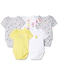 Mothercare Baby Girls' Regular Fit Bodysuit (Pack of 5)