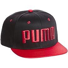 Puma Ess Flat Brim – Gorra Black de Barbados Cherry 69b2c749544