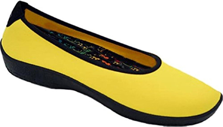 ARCOPEDICO - Bailarinas de Material Sintético para mujer amarillo amarillo