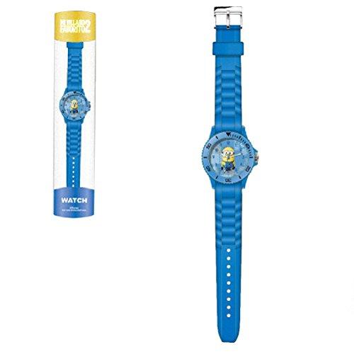 Reloj analogico Minions de caucho azul