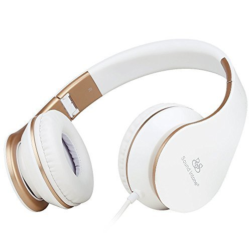 Sound Intone I65 faltbarer ON-Ear Kopfhörer, Hifi-Stereo Klanqualität, mit 3,5 mm Klinkestecker, drehbare Ohrpolster, Rauschreduzierung, integrierter Lautstärkeregelung und Mikrofon für PC/ Smart Phone/ Iphone6/ Ipad/ Samsung/ Psp/ Ipod/ Mp3 Player/ - Psp Mp3