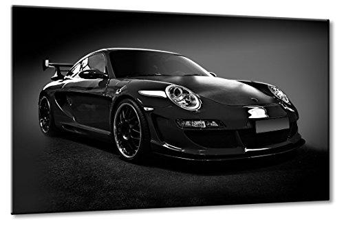 Leinwand Bild 60cm Porsche 911 991 Carrera Cabrio Coupé Neu 2012 Weiß Rot Sport