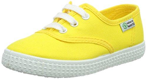 Natural World Ingles Liso, Baskets  fille Jaune - Gelb (amarillo 04)