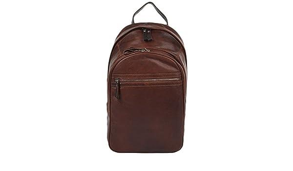 0ae44ed2bec Ashwood Unisex Leather Backpack Tan Brown   4555 NA  Amazon.co.uk  Luggage