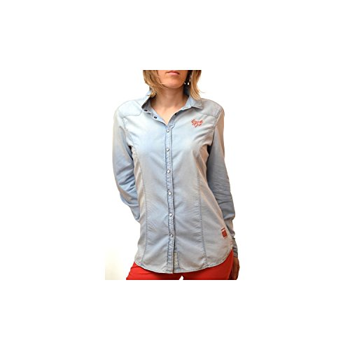 Gaastra Bluse Blau Jean Chili für Damen Gr. XS, blau