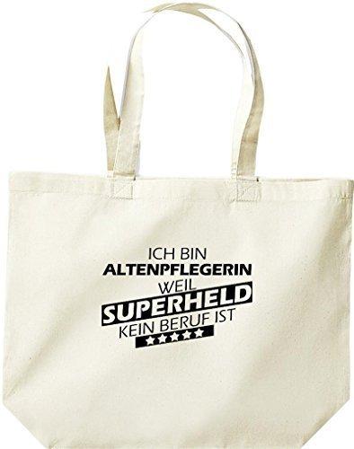 grande borsa della spesa, SONO altenpflegerin, WEIL supereroe NESSUN lavoro è Naturale