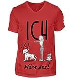 Cocoloros Design; ICH kläre das! - Herren V-Neck Shirt -M-Rot