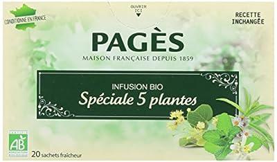 Pagès Infusion Spécial 5 Plantes Bio 20 sachets - Lot de 2