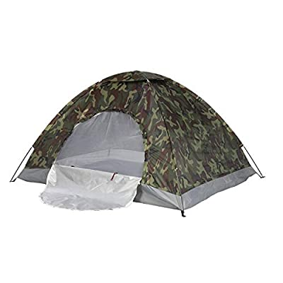 PetHot Camping Tent Waterproof 2-3 Person Camouflage Fishing Hunting Tent 200cm x 150cm x 110cm from JY